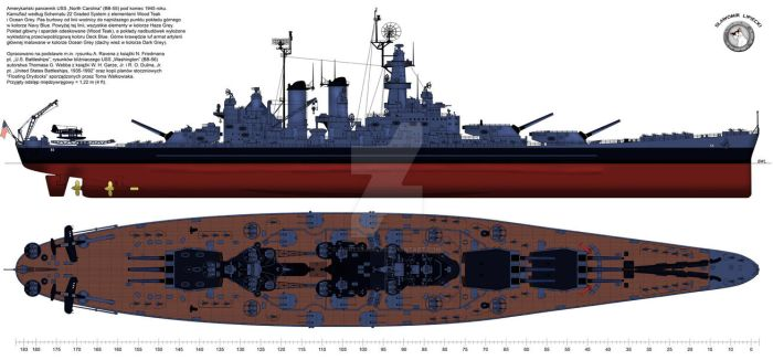 USS North Carolina 1945 by Lioness-Nala