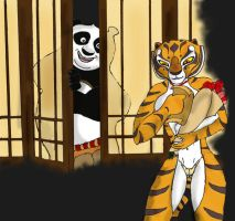 Master tigress and Po by K-o-v-u