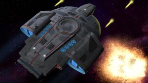 Starships in Action 2 - Defiant class by unusualsuspex