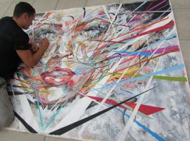 Me workin in some detail on the latest piece by ART-BY-DOC