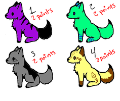 4 Pack Point Adopt Set 1 SUPER CHEAP!! by SolarFoxi