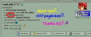 1000 page views by kait-sith