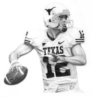 Colt McCoy - Texas Longhorns by DFitchPencilArt