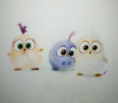 Hatchlings from The Angry Bird Movie by ni5hitha