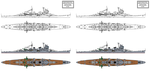 Myoko class heavy cruiser preliminary variants by Tzoli