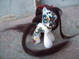 My Little Pony sugar skull by Tat2ood-Monster