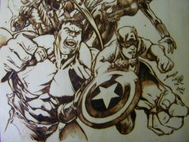 The Avengers BOTTOM DETAIL by JayRandall