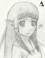 Princess Zelda (Skyward Sword) Drawing by 717thartist