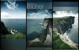 The Cliffs of Moher Triptych by geckokid