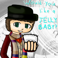 Fourth Doctor: Would you like a jelly baby? by Okamimusume