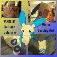 Minun Cosplay Hat by CupcakeCrafty
