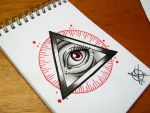 All Seeing Eye Flash Design by Frosttattoo