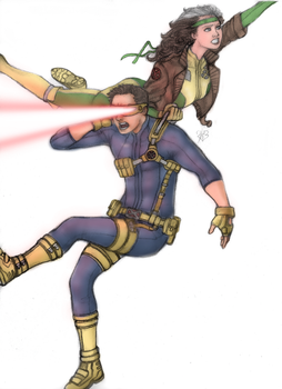 Rogue n' Cyclops by DeanLeoWinchester