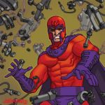Old Marvel Magneto tradingcard by Devilpig