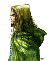Aragorn, LOTR, Watercolour by rogercruz