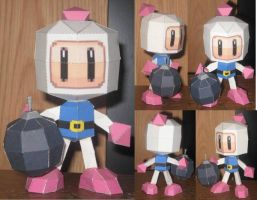 Bomberman Papercraft by paperart