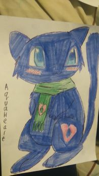 Oc AquaHeart the mew by vocaloidninja1999