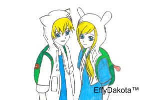 Finn And Fionna NEW by MyNameIsEffyDakota
