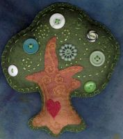 Green Button Tree by verukadolls
