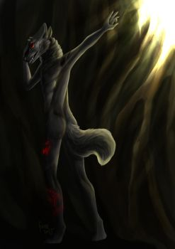 [art trade] Can't Look at the Light by She-WolfGuree
