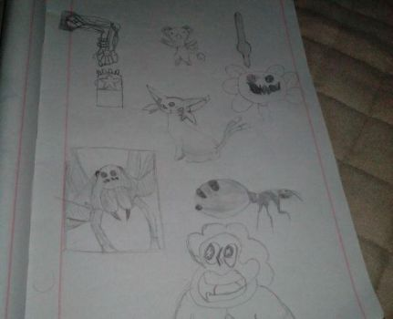 Page of doodles I wanted to do. by dragonicoverlord14