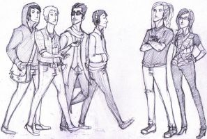 Casual Avengers. by demolitionlove