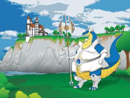 Dragon Warrior - With background by quente