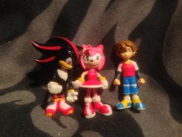Mini sonic x figures by DarkGamer2011