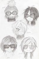 The GazettE Chibi Casual by AI4GOT