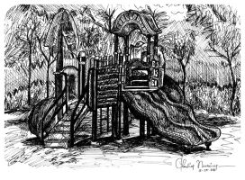 {50 SKETCHES PROJECT} Playgound @ Rumah Kayu by ClaudiaNovreica