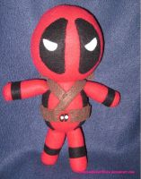 Deadpool Plushie by fromzombieswithlove