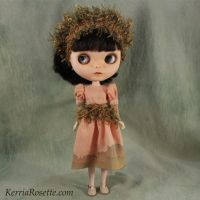 Peach Woodland Dress for Blythe or Pullip by KerriaRosette