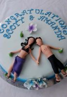 Engagement cake Beach by Verusca