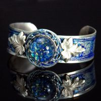 Steampunk Blue Cuff Bracelet by Cori35