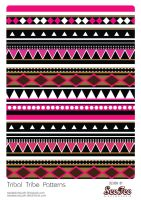 Tribal Tribe Patterns #7 by SeeTeeArtwork