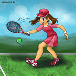 CM: May Playing Tennis by Cascadena