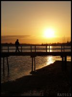 sunset and a bridge by kat013