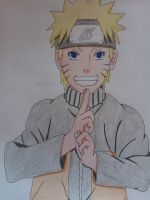 Naruto Uzumaki -quick drawing- by SakakiTheMastermind