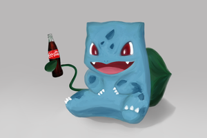 Poke-Cola: Bulbasaur by Koko-chu