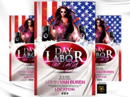 Labor Day Flyer Template by Grandelelo