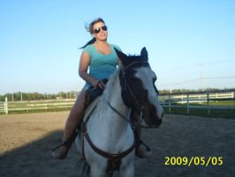 my sis on my horse by shockmyworld12