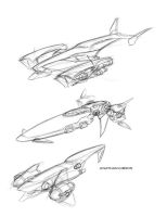 Starship Schooner sketches by Transbot9