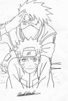 Kakashi and Naruto by Kiranaomipartners