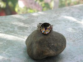 Peacock Ring Pointed Adjustable SS finish Dazzling by artistiquejewelry