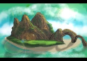 An Island by PaulVincent