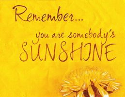 You are my sunshine... by sMARIEs123