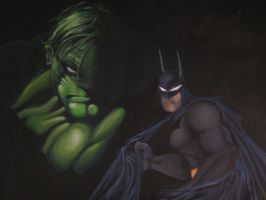 BATMAN AND THE HULK by ARTIEFISHEL79
