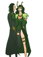 Loki and His Inner Lady by WildCards
