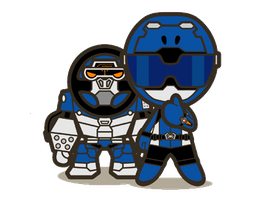 BlueBuster and Gorisaki by HeatnixRider