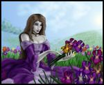 Woman in the Iris by Destinyfall